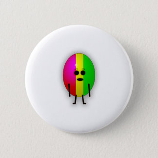 Rasta Egg 2 Inch Round Button