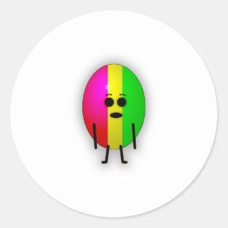 Rasta Egg Round Sticker