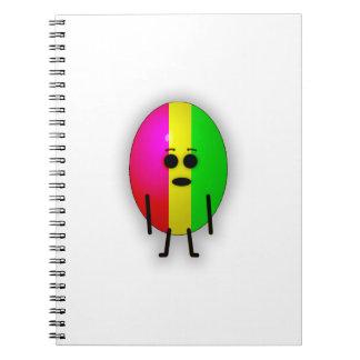Rasta Egg Spiral Notebook