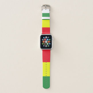 Rasta flag apple watch band