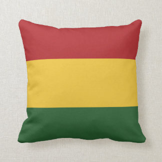 Rasta Flag Colors Throw Pillow
