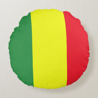 Rasta flag round pillow