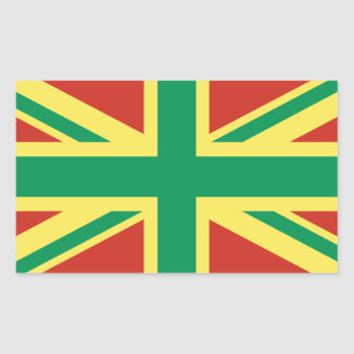 Rasta Flag UK Sticker
