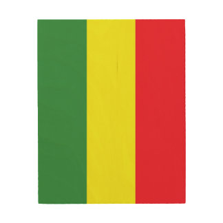 Rasta flag wood print