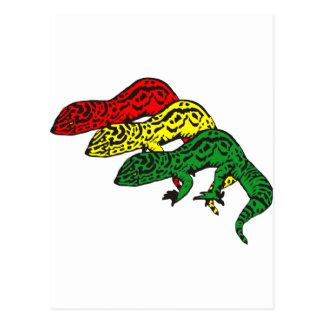 Rasta Geckos Postcard