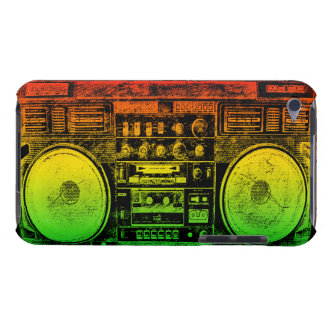 Rasta ghetto blaster barely there iPod cases