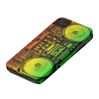Rasta ghetto blaster iPhone 4 Case-Mate case