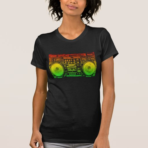 Rasta ghetto blaster t shirt