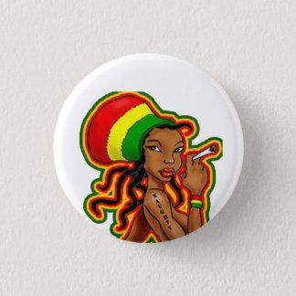 Rasta Girl plates 1 Inch Round Button