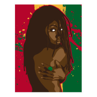 Rasta Girl Postcard