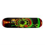 Rasta glow skate board