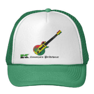 rasta guitar tracker hat