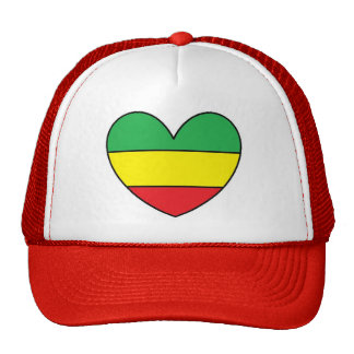 Rasta Heart Trucker Hat