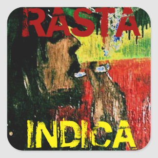 RASTA INDICA SQUARE STICKER