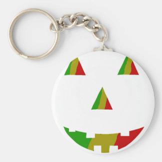 Rasta Jack-O-Lantern Basic Round Button Keychain