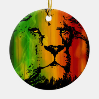 Rasta Lion Ceramic Ornament