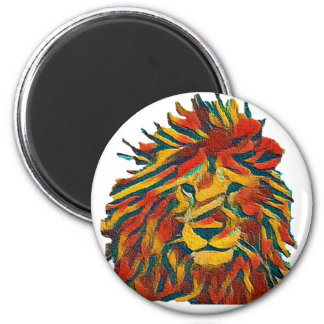 Rasta lion magnet