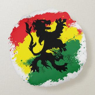 Rasta Lion of Judah Round Pillow