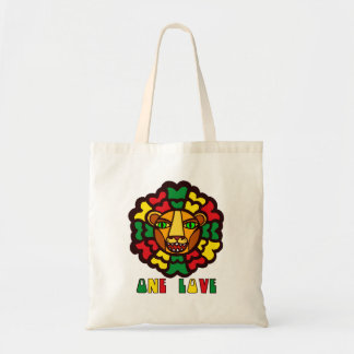 Rasta Lion One Love Tote Bag
