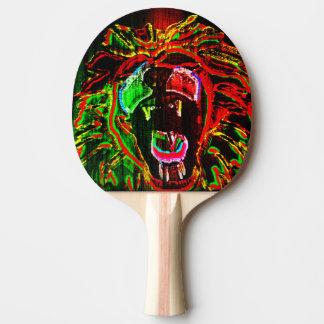Rasta Lion Ping Pong Paddle