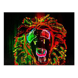 Rasta Lion Postcard