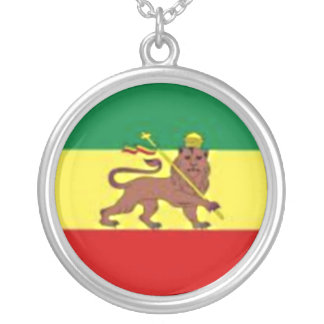 RASTA LION STERLING SIVER CHAIN SILVER PLATED NECKLACE