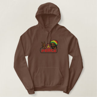 RASTA MAN PEACE EMBROIDERED HOODIE