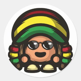 Rasta Mushroom Round Sticker