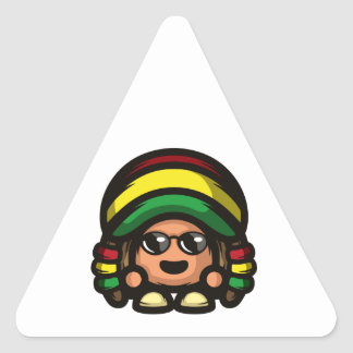 Rasta Mushroom Triangle Sticker