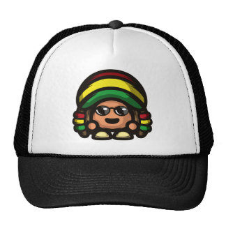 Rasta Mushroom Trucker Hat