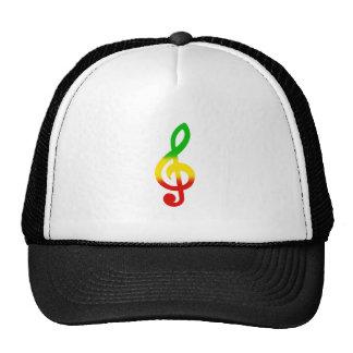 Rasta Note and Treble Clef Trucker Hat