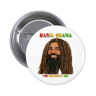 Rasta Obama for President 2012 2 Inch Round Button