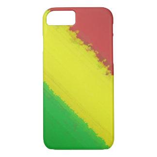 Rasta Paint Swipe iPhone 7 Case