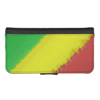 Rasta Paint Swipe Phone Wallets