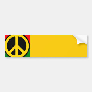 Rasta Peace Bumper Sticker