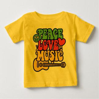 Rasta  Peace-Love-Music Baby T-Shirt