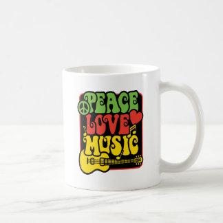Rasta Peace Love Music Coffee Mug