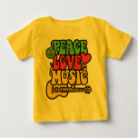 Rasta  Peace-Love-Music Shirt