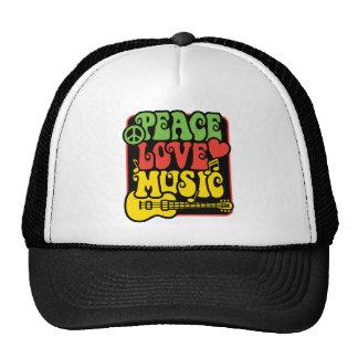 Rasta PEACE-LOVE-MUSIC Trucker Hat