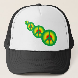 Rasta Peace Multi Trucker Hat