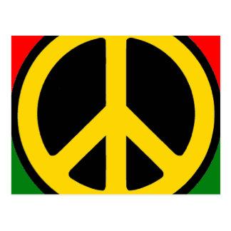 Rasta Peace Postcard