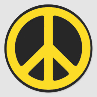 Rasta Peace Round Sticker