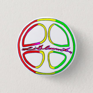 Rasta Peace Sign 1 Inch Round Button