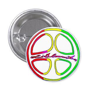 Rasta Peace Sign 1 Inch Round Button