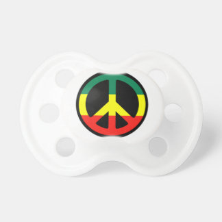 Rasta Peace Sign Baby Pacifier