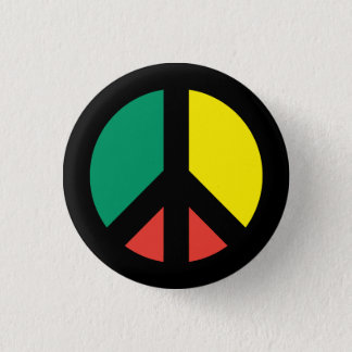 Rasta Peace Symbol Button