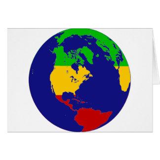 Rasta Planet Earth Card