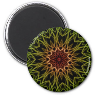 Rasta Red Yellow Green Black Fractal Art Magnet