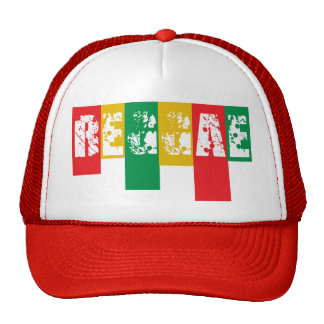rasta reggae graffiti flag trucker hat
