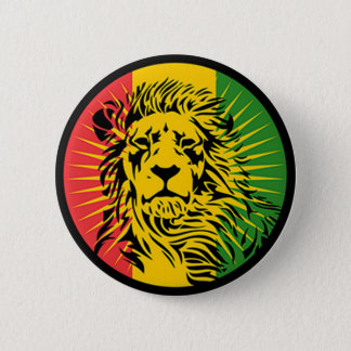 rasta reggae lion flag 2 inch round button